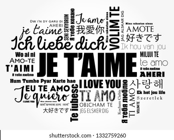 I Love You a French Language Images, Stock Photos & Vectors