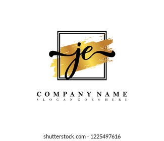 JE Initial handwriting logo concept