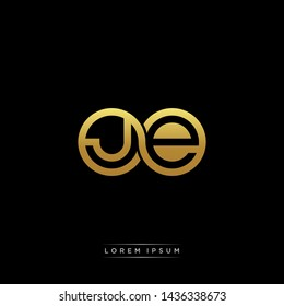 JE initial letter linked circle capital monogram logo modern template