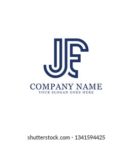 JE initial Letter logo, logo monogram, clean and modern design