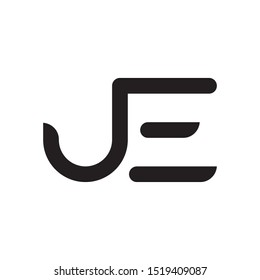 JE initial letter logo template vector icon design