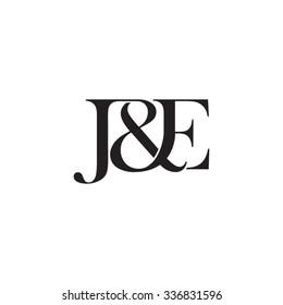 J&E Initial logo. Ampersand monogram logo