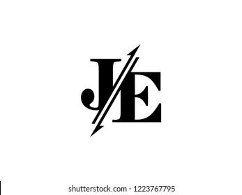 JE initials logo sliced