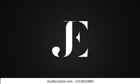 JE Letter Logo Design Template Vector