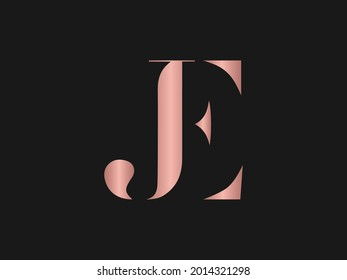 JE Letter Logo Design Template Vector