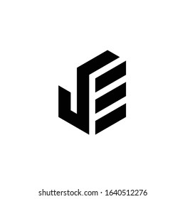 JE logo is a little explanation of the concept of the logo: a unique JE letter with clean, clear, thick, and elegant lines
