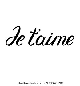French words images stock photos vectors shutterstock je taime i love you in french handwritten words illustration m4hsunfo