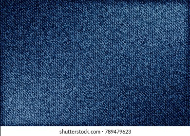 Jeans background denim pattern. Classic texture blue. Background of denim canvas. Vector.