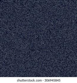 Jeans background. Vector Denim seamless pattern. Dark blue jeans cloth.