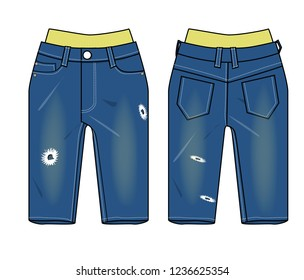 jeans for child vector