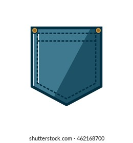 Jeans pocket illustration vector