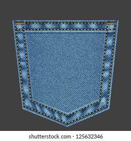 Jeans pocket in vector