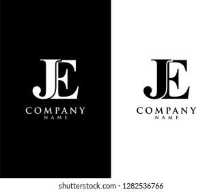je/ej initial company name logo template vector