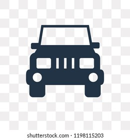 Jeep front vector icon isolated on transparent background, Jeep front transparency concept can be used web and mobile