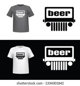 Jeep, illustration of Jeep, sticker, rule, king, tshirt print, vector illustration - Vector