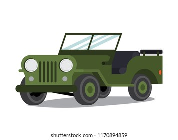 Jeep vector flat illustration