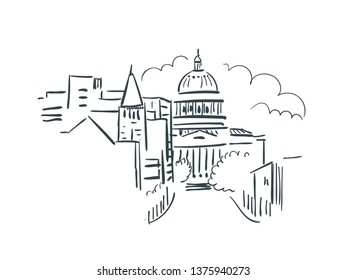 Jefferson city Missouri usa America vector sketch illustration line art