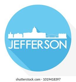 Jefferson City Missouri USA Flat Icon Skyline Silhouette Design City Vector Art