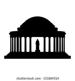 Jefferson Memorial silhouette