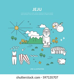 Jeju line layout set