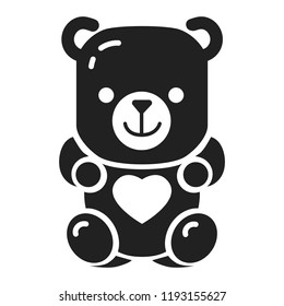 Jelly bear icon. Simple illustration of jelly bear vector icon for web design isolated on white background