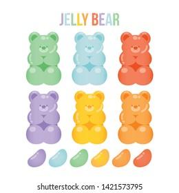 Jelly bears fruit gummy. Character Illustrator vector design - Vector