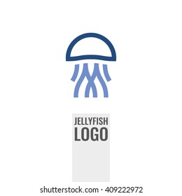 Jellyfish abstract logo or icon.