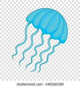Jellyfish icon. Cartoon illustration of jellyfish vector icon for web