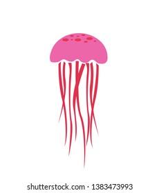 jellyfish icon, vector illustration on white