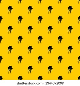 Jellyfish pattern seamless vector repeat geometric yellow for any design