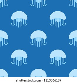 Jellyfish seamless pattern for use as wrapping paper gift or wallpaper and printing, summer theme