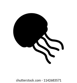 jellyfish silhouette icon, vector illustration.