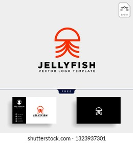 jellyfish simple elegant creative logo template vector illustration icon element