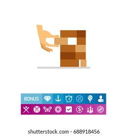 Jenga blocks icon