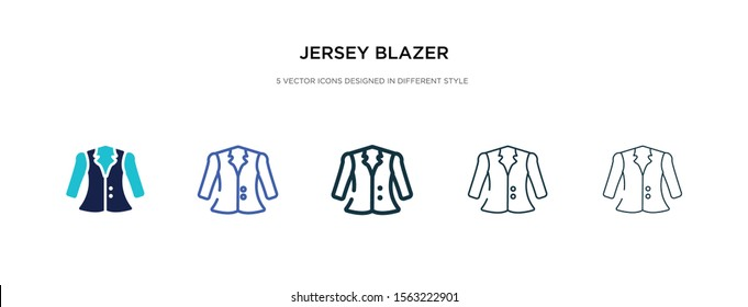 jersey blazer icon in different style vector illustration. two colored and black jersey blazer vector icons designed in filled, outline, line and stroke style can be used for web, mobile, ui