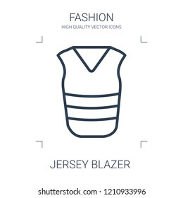jersey blazer icon. high quality line jersey blazer icon on white background. from fashion collection flat trendy vector jersey blazer symbol. use for web and mobile