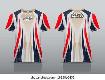 jersey esport design for gaming, uniform in front view back view. Shirt mock up Vector, design premium  and easy to custom