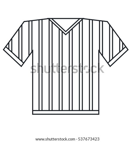 Jersey Referee American Football Outline Stock Vector