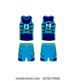 jersey for running and basketball tank top design template, Sport jersey mockup. uniform front and back view.