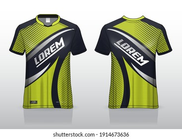 jersey sport shirt template design for running Sport,  basket ball, soccer uniform in front view, back view. Shirt mock up Vector, design very simple and easy to custom