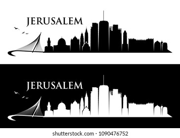 Jerusalem skyline - Israel - vector illustration