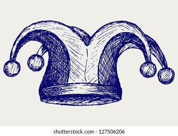 Jester hat. Doodle style