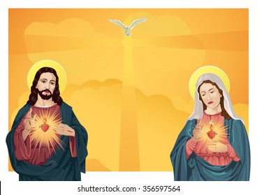 Jesus Christ and Blessed Virgin Mary