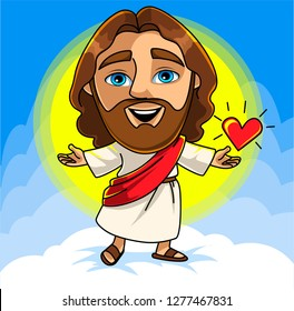 Jesus Christ. Character for kids. Vector illustration