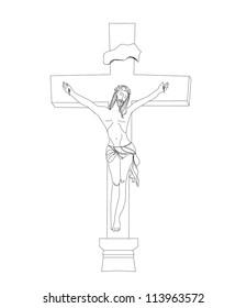 jesus christ in the cross