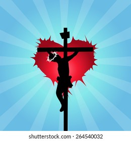 Jesus Christ crucified - Jesus loves you concept- Good Friday