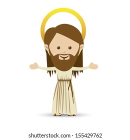 jesus christ design over white background vector illustration