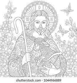 jesus coloring book Images, Stock Photos & Vectors | Shutterstock