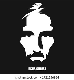 JESUS CHRIST - Minimal vector illustration of jesus christ