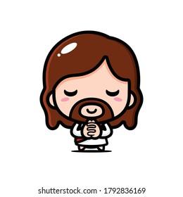 jesus christ pray vector design